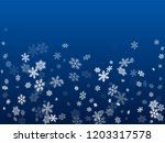 winter snowflakes border card... | Shutterstock .eps vector #1203317578