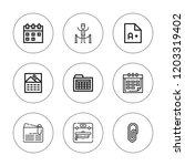 reminder icon set. collection... | Shutterstock .eps vector #1203319402