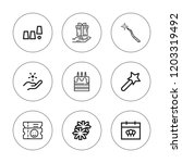 event icon set. collection of 9 ... | Shutterstock .eps vector #1203319492