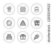present icon set. collection of ... | Shutterstock .eps vector #1203319522