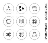 refresh icon set. collection of ... | Shutterstock .eps vector #1203319558