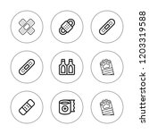 plaster icon set. collection of ... | Shutterstock .eps vector #1203319588