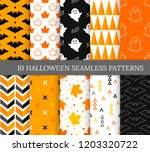 ten halloween different... | Shutterstock .eps vector #1203320722
