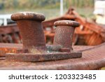 old ship bollard in boretto   Shutterstock . vector #1203323485