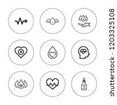 heartbeat icon set. collection... | Shutterstock .eps vector #1203325108