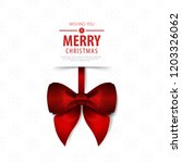 ribbon for christmas layout... | Shutterstock .eps vector #1203326062
