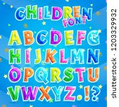 children font  illustration... | Shutterstock . vector #1203329932