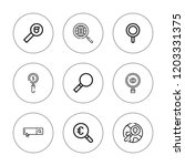 magnifier icon set. collection... | Shutterstock .eps vector #1203331375