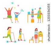 set of icons dedicated to... | Shutterstock . vector #1203336355