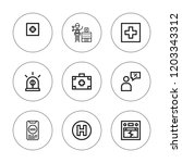 urgency icon set. collection of ... | Shutterstock .eps vector #1203343312