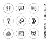 speak icon set. collection of 9 ... | Shutterstock .eps vector #1203343315