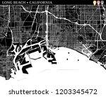 Simple Map Of Long Beach ...
