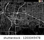 simple map of albuquerque  new...   Shutterstock .eps vector #1203345478