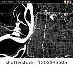 simple map of memphis ...   Shutterstock .eps vector #1203345505