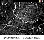 simple map of austin  texas ... | Shutterstock .eps vector #1203345538