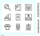 simple set of 9 icons related... | Shutterstock .eps vector #1203354922