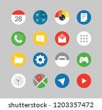 modern smartphones ui kit.... | Shutterstock .eps vector #1203357472
