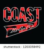 coast  slogan print   Shutterstock .eps vector #1203358492