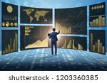 concept of business charts and... | Shutterstock . vector #1203360385