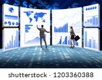 concept of business charts and... | Shutterstock . vector #1203360388