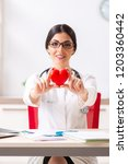 young doctor in heart care...   Shutterstock . vector #1203360442