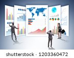 concept of business charts and... | Shutterstock . vector #1203360472
