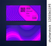 ticket card coupon and voucher... | Shutterstock .eps vector #1203361195
