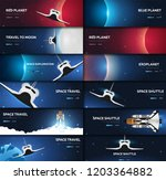 set of space banners. space... | Shutterstock .eps vector #1203364882