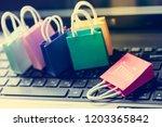 online shopping concept  ... | Shutterstock . vector #1203365842