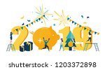 vector illustration  workers... | Shutterstock .eps vector #1203372898