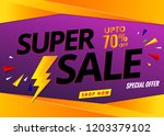 sale banner template   Shutterstock .eps vector #1203379102