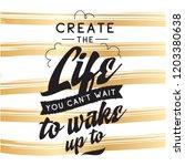 inspirational quote  motivation.... | Shutterstock .eps vector #1203380638