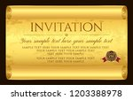 invitation design. medieval old ... | Shutterstock .eps vector #1203388978