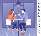 vector illustration in flat... | Shutterstock .eps vector #1203389038