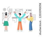 vector illustration of business ... | Shutterstock .eps vector #1203390058