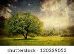 Vintage Pastoral Landscape With ...