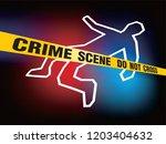crime scene do not cross... | Shutterstock .eps vector #1203404632