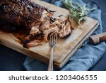 slow cooked pork with sugar... | Shutterstock . vector #1203406555
