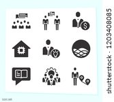 simple set of 9 icons related... | Shutterstock .eps vector #1203408085