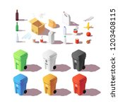isometric set of colourful... | Shutterstock .eps vector #1203408115