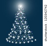 abstract christmas tree | Shutterstock .eps vector #120342742