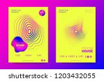 music abstract colorful poster. ... | Shutterstock .eps vector #1203432055