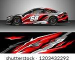 racing car wrap design vector.... | Shutterstock .eps vector #1203432292