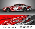 racing car wrap design vector.... | Shutterstock .eps vector #1203432295