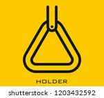 holder icon signs | Shutterstock .eps vector #1203432592