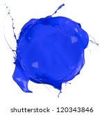 isolated shot of blue paint...