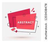 modern abstract vector banner.... | Shutterstock .eps vector #1203438478