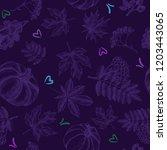 decorative seamless pattern... | Shutterstock .eps vector #1203443065