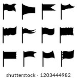 set of different flags isolated ... | Shutterstock .eps vector #1203444982
