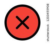 fatal error notification   Shutterstock .eps vector #1203455908
